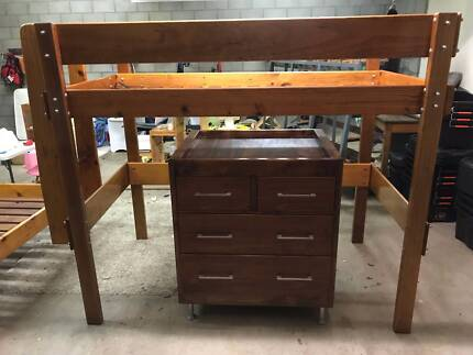 Bunk Bed with chest of drawers (change table)