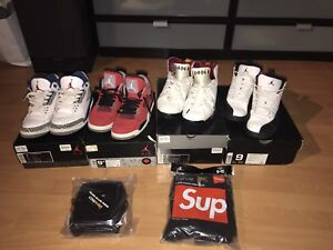 Jordan size 9 and 9.5 supreme