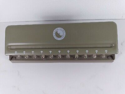 Levenger Circa Universal 11 Hole Desk Paper Punch Adjustable Slide Disc Planner