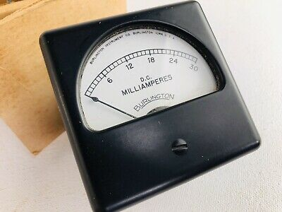 Vintage Burlington Instrument D.c. Milliamperes Panel Meter