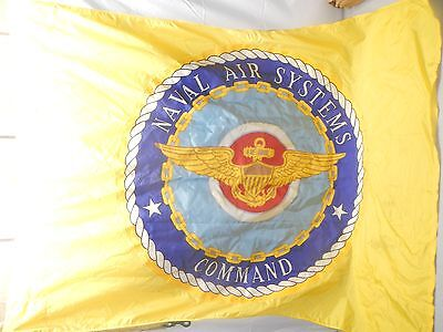 Vintage Yellow Naval Air Systems Command Flag Vietnam 1970 NOS Original Package