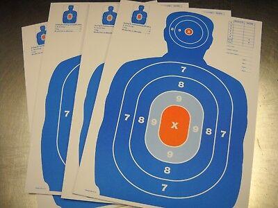 120 pk Blue/Orange Airsoft pellet bb gun Silhouette paper shooting targets 9x12 (Airsoft Pellet Gun)