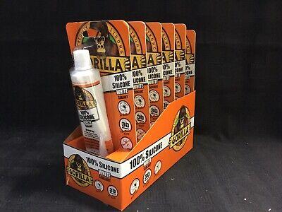 6 Pack Gorilla White Silicone All Purpose Caulk Sealant 2.8 Oz Waterproof E