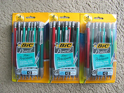 BIC Mechanical Pencils Xtra-Precision, 0.5 mm, #2 Assorted Colors 72 Pencils