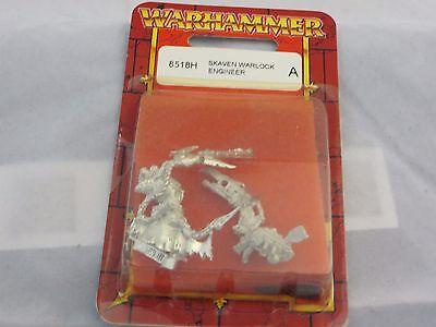 Warhammer Skaven Warlock Engineer 8518H metal oop blister nib