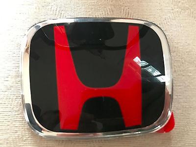 Genuine JDM H Red Black Grille HONDA ACCORD CIVIC CRV FIT HRV Coupe BADGE EMBLEM