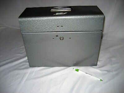 Slightly Used Metal Case 13w X 10h X 5.5d For Portable Hanging File Folders