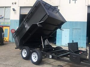 AUSSIE MANUFACTURED NEW 9X5  HYDRAULIC TIPPER TRAILER 1.1M SIDES Gold Coast Region Preview