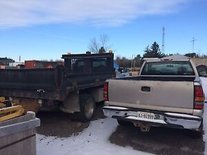 Two vehicles for sale. Ford-f550 and gmc Serria.