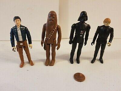Vintage Star Wars Figure Bundle Lot,Original,Han Solo,Luke,Darth Vader,Chewbacca