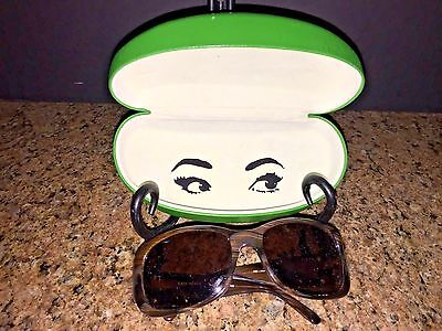 """KATE SPADE Ladies Brown Framed Sunglasses """"Sarah"""" With Rhinestones And Case"""