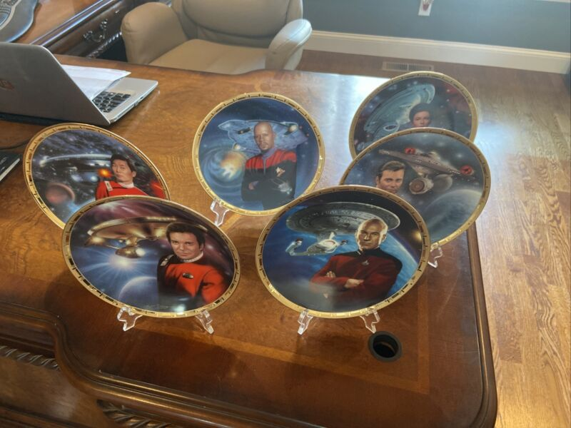 Vintage Star Trek Power Of Command Plate Collection Set Of 5