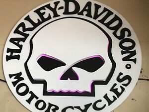 4' backlight Harley sign