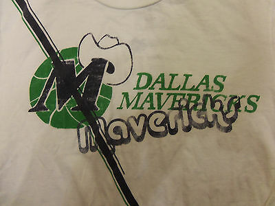 Hardwood Classics Vintage Tee - NBA Hardwood Classics Dallas Mavericks vintage throwback logo style T Shirt  M