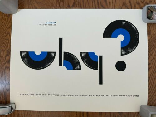 Why? San Francisco, 2008 Poster, Signed, Numbered Jason Munn Anticon