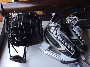 Bauer Hockey helmet & CCM youth skates