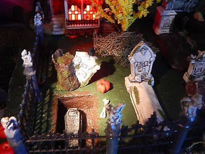 Halloween Display Platforms (Halloween tombstone DISPLAY Platform, CEMETERY Graveyard VILLAGE graves, Dept)