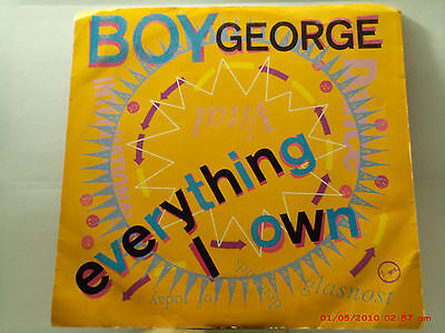 Boy George   45 W Pic  Sleeve  Everything I Own   Use Me   Virgin Records   1987