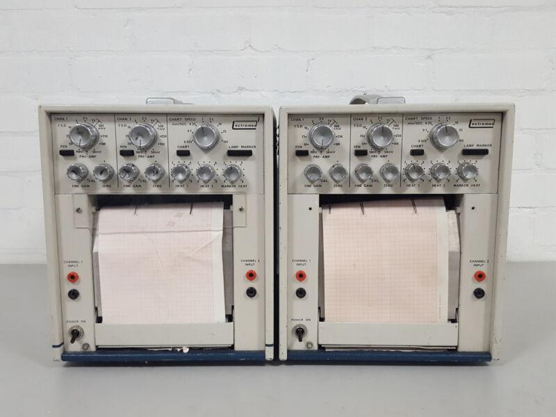2x Lectromed Chart Recorder Dispenser Linear Plotter