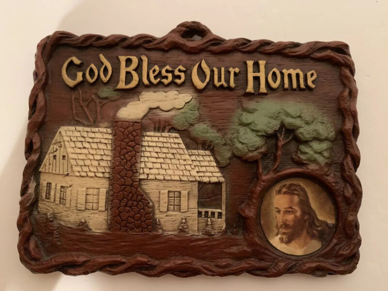 God Bless Our Home Wall Hanging Jesus