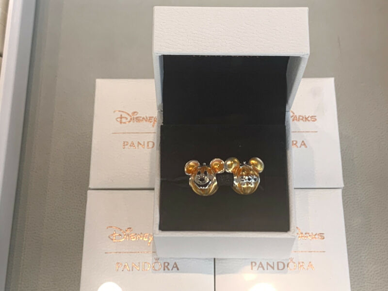 Disney 2021 Halloween Pumpkin Mickey Double sided Charm by PANDORA