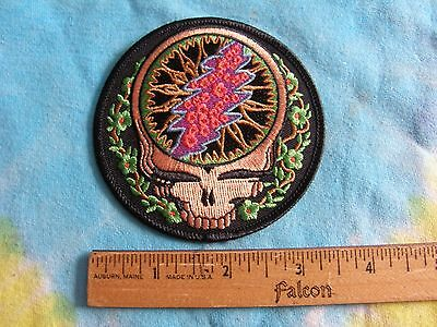 Grateful Dead Steal Your Face SYF Vines 3.5 Inch Iron On Patch