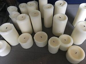 Lightly used block candles for sale + 4 unused candles Chatswood Willoughby Area Preview