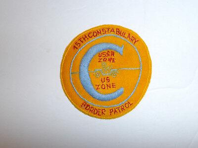 b2957 Post WW2 US Army Constabulary Occupied Germany 15th Border Patrol R8D