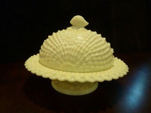 L G Wright Northwood argonaut Nautilus shell custard covered butter dish