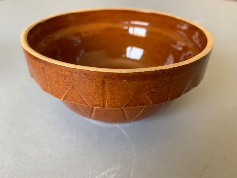 "Watt Pottery Diamond Brown 4 1/2"" Bowl"