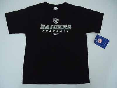 - OAKLAND RAIDERS SHIRT YOUTH LARGE REEBOK BRAND NEW WITH TAGS