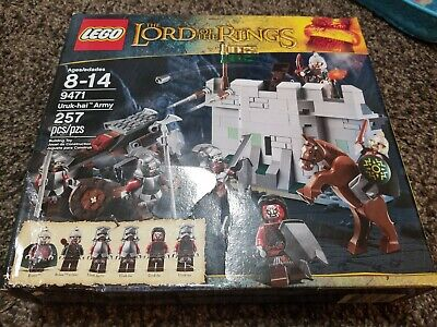 LEGO The Lord of the Rings Uruk-Hai Army 9471 NEW in Sealed Box damaged
