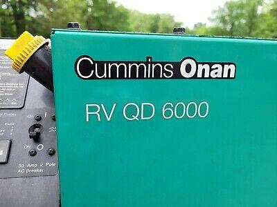 Cummins Onan Rv Generator Quiet Diesel Qd 6000