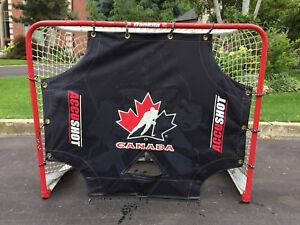 Goalie net plus shooting target