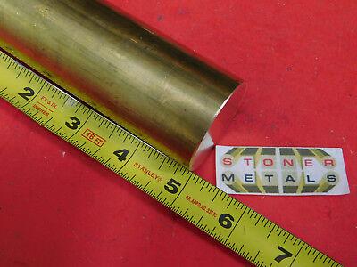 1-58 C360 Brass Round Rod 5 Long Solid H02 Lathe Bar Stock 1.625 Diameter