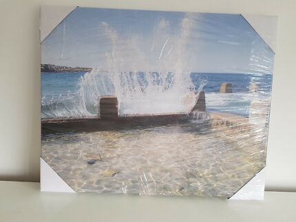 Photographic Canvas of Coogee Beach 40cm x 50cm.