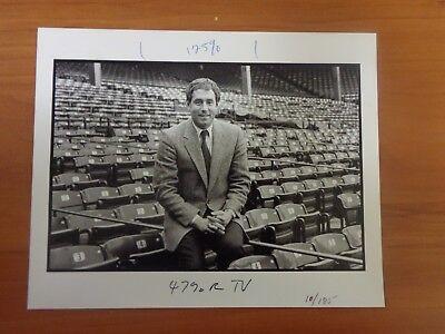 Vintage Glossy Press Photo Wbz Tv4 Channel 4 Sports Anchor Bob Lobel