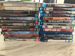 blueray dvd's great titles bulk sale
