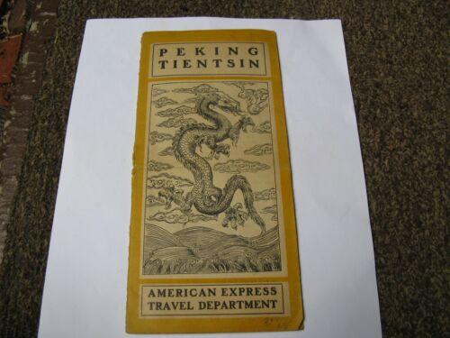 American Express Travel Department Peking Tientsin Brochure 1920