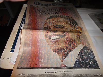 Chicago Tribune Newspaper Tuesday  January 20  2009  An American Moment
