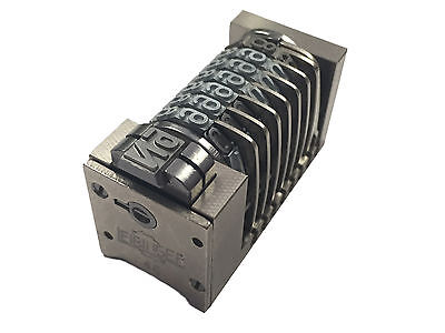 Letterpress Leibinger Numbering Machine 7 Digit Backward Heidelberg parts