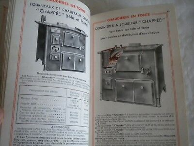Vintage catalogue Chapée central heating cooking ranges stoves 1940s