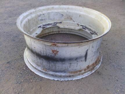 Tractor rim suitable for use as fire pit or firebucket.