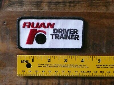 """Ruan Driver Trainer Vintage Trucking Collectible Patch 4"""""""
