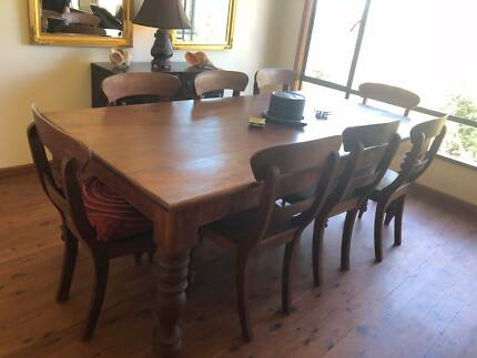 Magnificent solid teak dining table for ten, suit any home