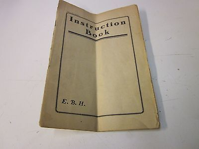 E.B.H. Electric Sewing Machine Instruction Booklet ~ 3M-12-27-IRWIN