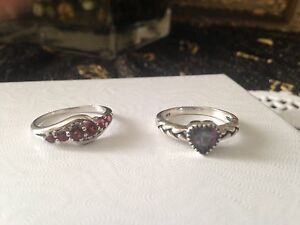 Size 6 Silver rings
