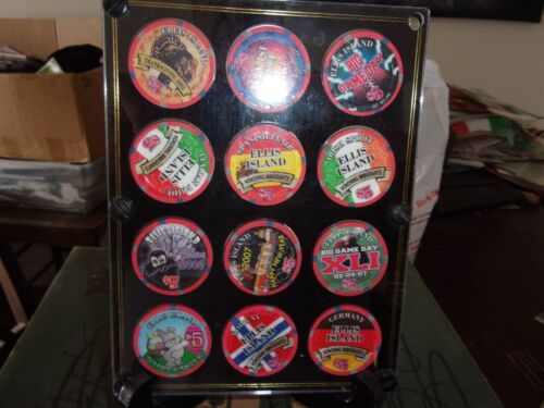 $5 LIMITED EDITION GAMING CHIP SET FROM ELLIS ISLAND HOTEL CASINO, LAS VEGAS