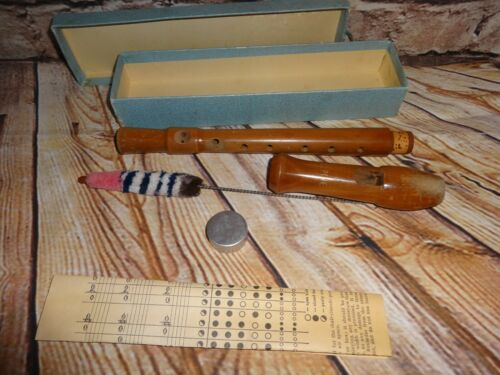 Vintage Wooden Concerto Recorder - Made In Germany