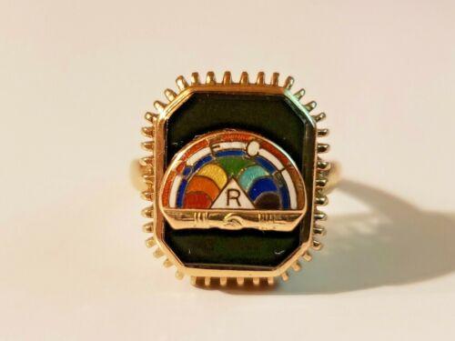Masonic 10k yellow gold international order of the rainbow for girls ring 5.6 gr